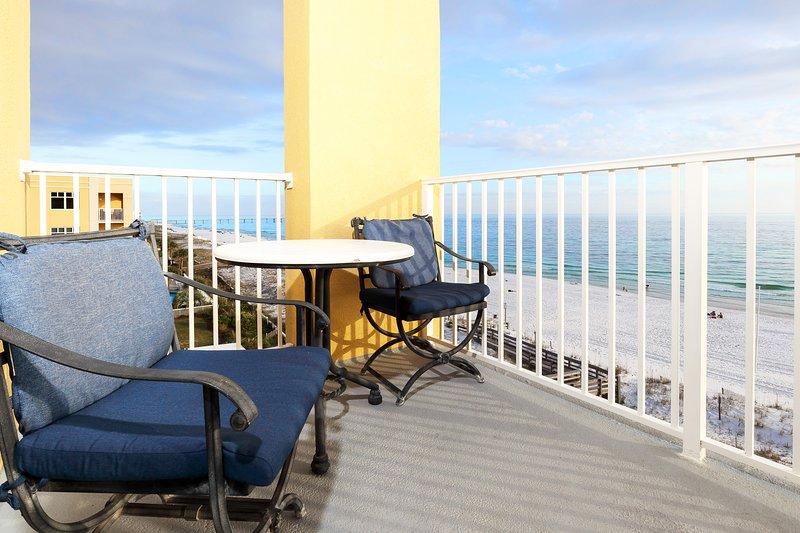 Balcony View, Corner Top Floor -  Gulf Dunes Resort Unit 601, Okaloosa Island Fort Walton Beach Vacation Rentals