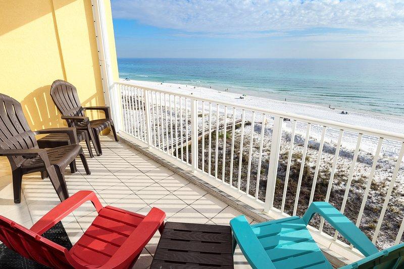 Balcony -  Gulf Dunes 607 Fort Walton Beach Okaloosa Island Vacation Rentals