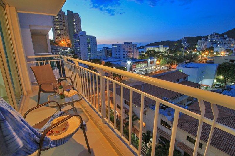 Balcón con Vista a la Ciudad