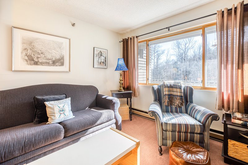 Ski-in/ski-out condo w/ mountain views & access to a shared pool & hot tub!, vacation rental in Upton