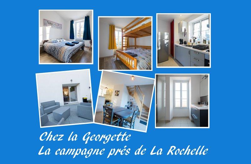 Chez la Georgette (3 épis), la campagne près de La Rochelle, vacation rental in Nuaille d'Aunis