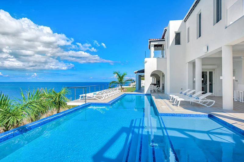 VILLA AMALIA... Spectacular cliffside villa overlooking Guana Bay, modern, elega, holiday rental in Philipsburg