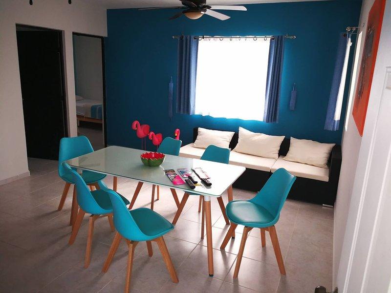 Aqua Apartment By Perlitas Home, holiday rental in Joaquín Zetina Gasca