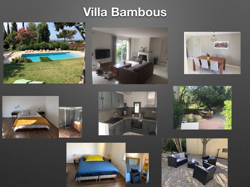 Villa Bambous à la cadière d'azur, holiday rental in La Cadiere d'Azur