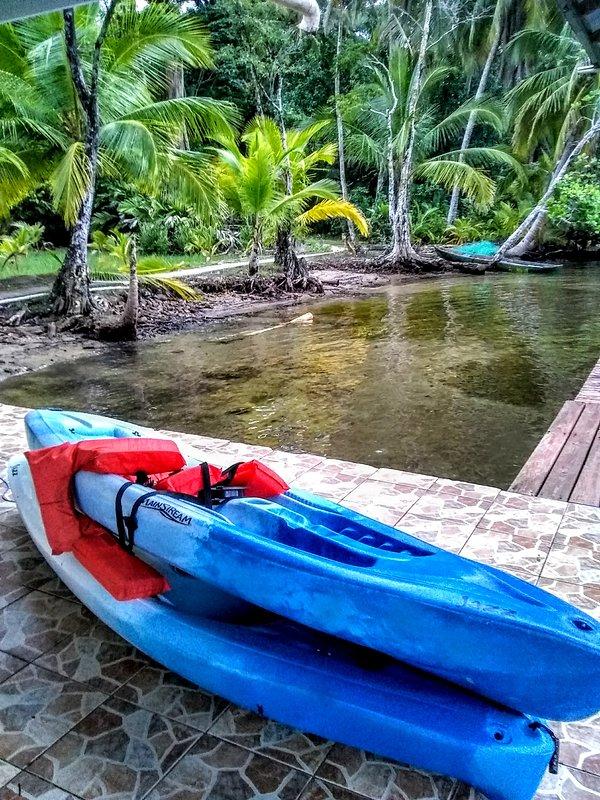 Tenemos kayaks, tablas de paddle y equipo de snorkel.