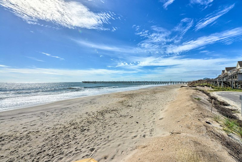 Sun-kissed days await mere steps from your door on North Topsail Beach!