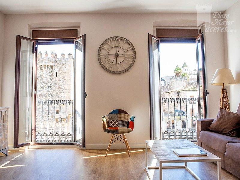 Apartamento Plaza Mayor Cáceres, alquiler de vacaciones en Extremadura