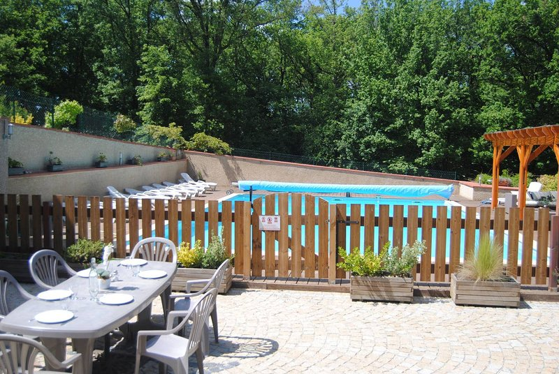 Spacious apartment with shared pool, holiday rental in Mauvezin