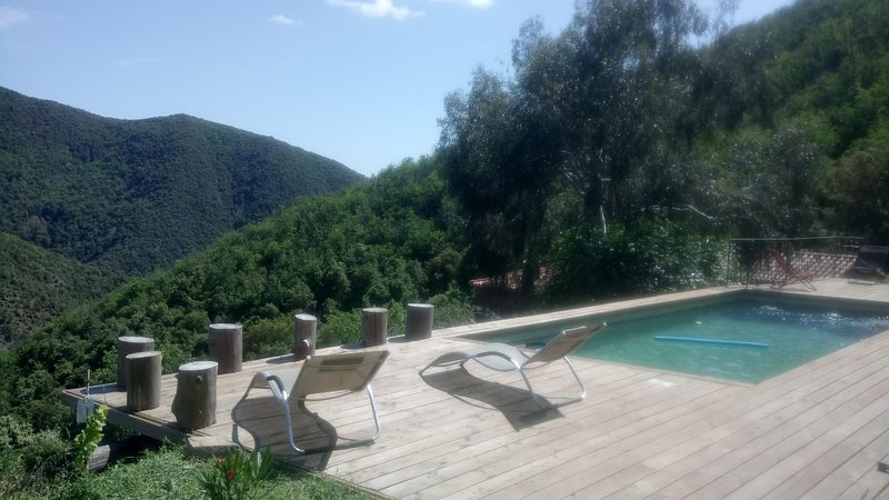 zona de relajación junto a la piscina