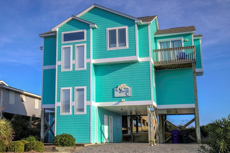S. Shore Drive 1710 Oceanfront! | Internet, Fireplace, Hot Tub, Pet Friendly, holiday rental in Surf City