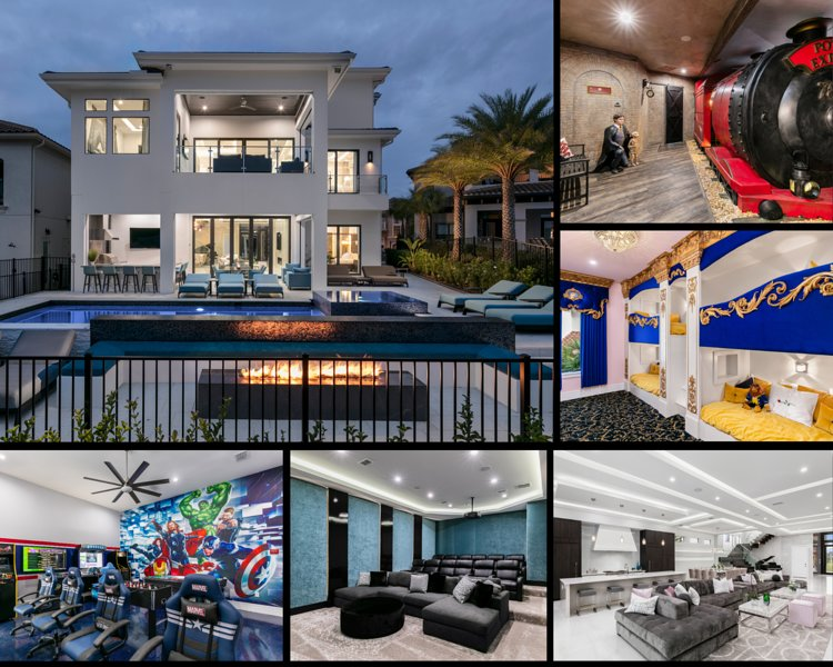 Brand New Modern Luxury Mansion near Disney with Arcade,Theater,and Theme Rooms, holiday rental in Reunion