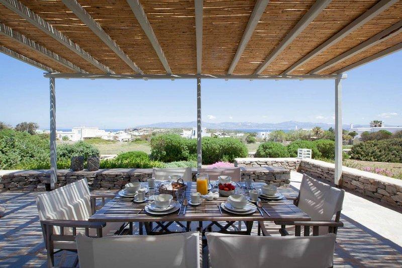 Kallisti Rodia  · Dream Villa with Views Garden nr Best kid's Beach, holiday rental in Naoussa