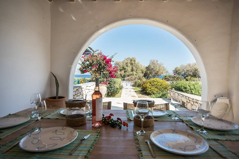Villa Blue - Family seafront villa near the beach, holiday rental in Ampelas
