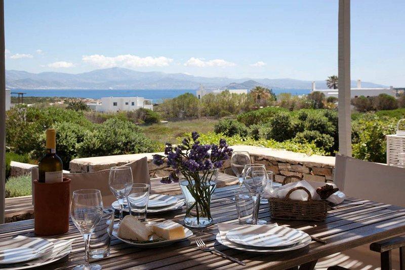 Kallisti Myrtia  · Idyllic Holiday Villa - Views, Garden, nr Beach, holiday rental in Naoussa