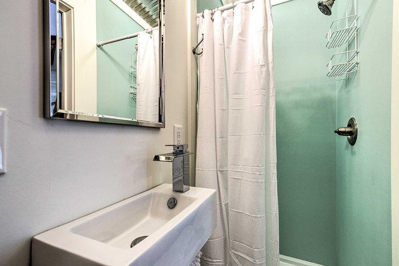 Com o chuveiro, você se sentirá limpo em pouco tempo.