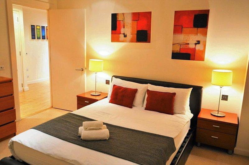 Vista espetacular, incrível apartamento acolhedor em Canary Wharf.