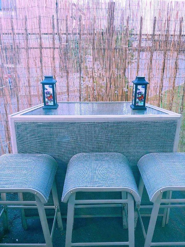 Bar en el patio al aire libre