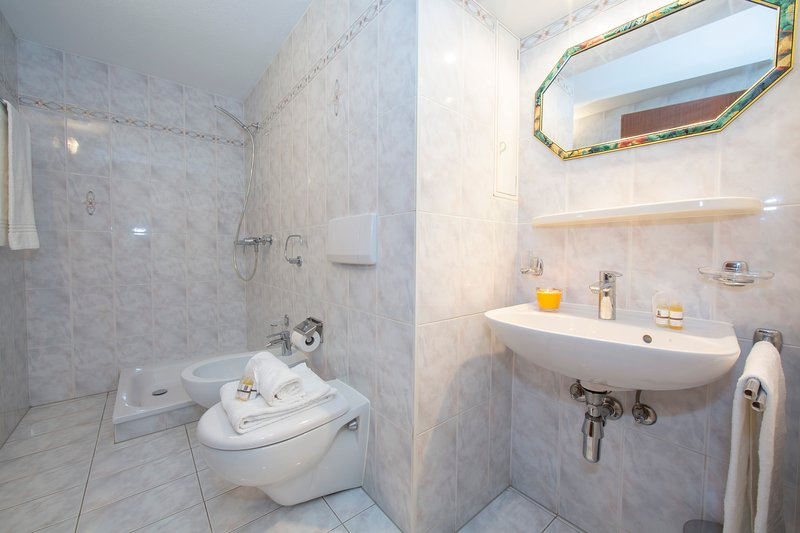 bathroom with shower box