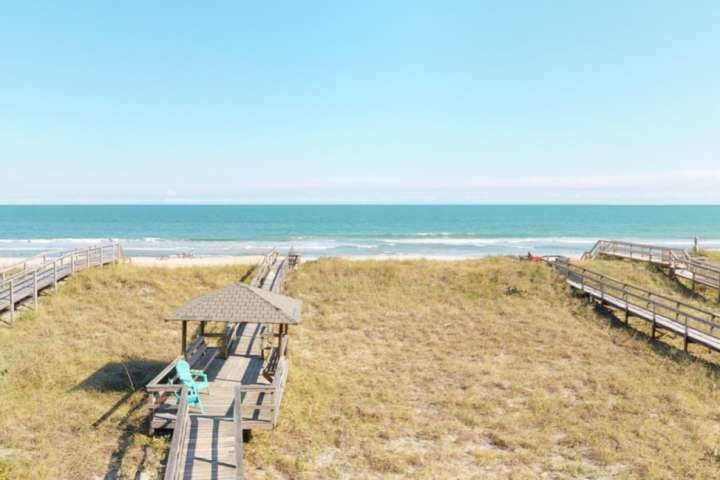 Your view from the top deck.  LegaSea is located at a great part of the Carolina Beach strand with plenty of sand!