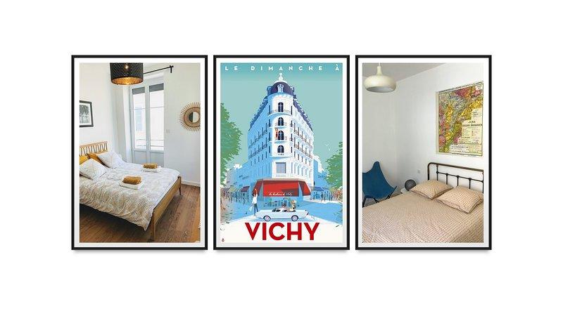 Appt design, tt confort, centre ville, 3 chambres, location de vacances à Bellerive-sur-Allier