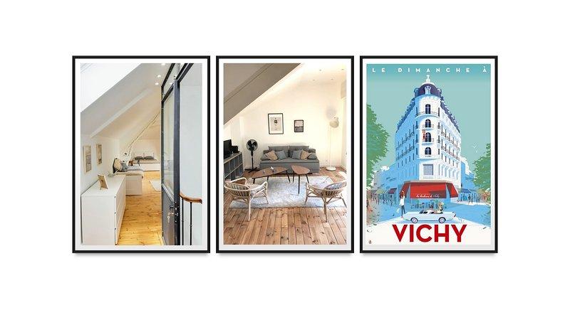 Loft design, tt confort, centre ville,  terrasse, location de vacances à Bellerive-sur-Allier