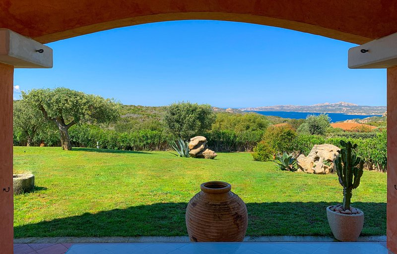 The panoramic view from the patio