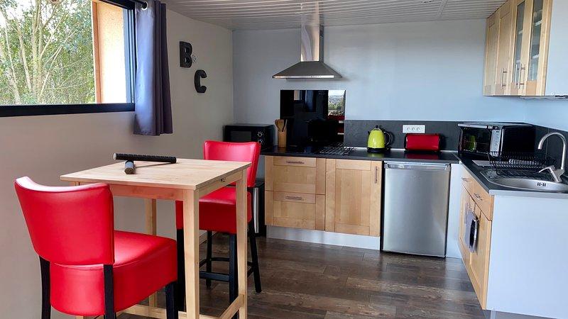 Gite 'Bois & Cailloux' au calme avec vue, holiday rental in Montgaillard-Lauragais