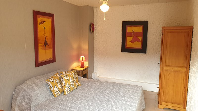 The bright and comfortable bedroom with a Super King size bed which can also be 2 single beds