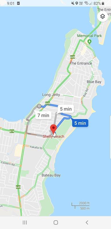 Mapa de Long Jetty to Shelly Beach