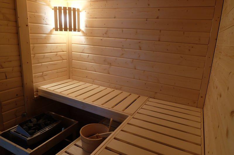 Huisje met sauna