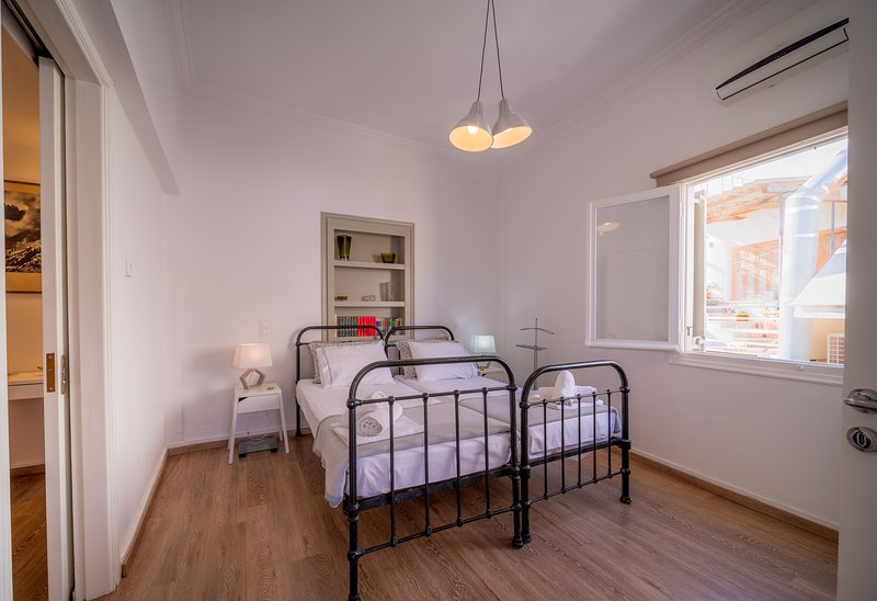 2 Guests Apartment Sea View - The ROOF in the very center of Aegina Town, holiday rental in Aegina