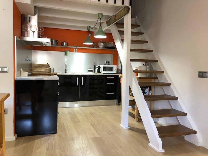 Precioso y céntrico Ático duplex en vielha para 6 pax + 2 adicionales, location de vacances à Vielha