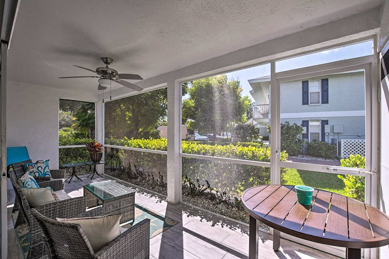 Your favorite spot to relax will be the screened-in porch.
