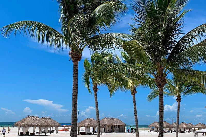 Enjoy the sand, sun, and blue skies on Smokehouse Bay!