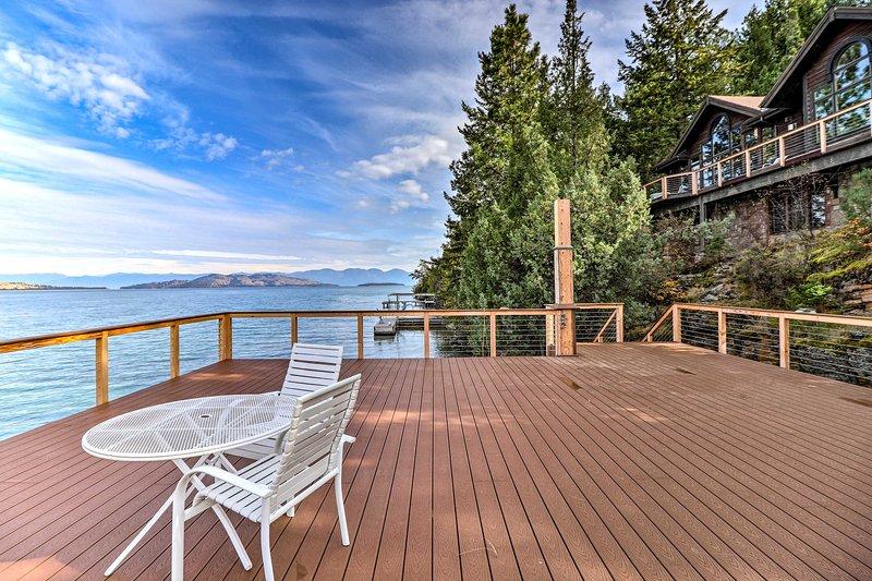 NEW! Serene Escape on Flathead Lake w/ Boat Dock!, holiday rental in Big Arm