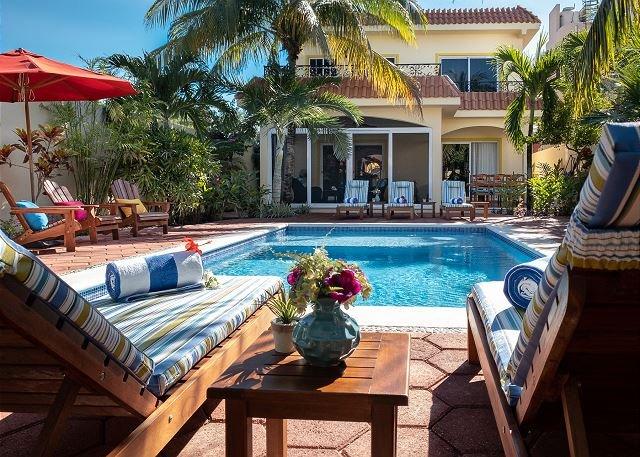 Pool looking toward house