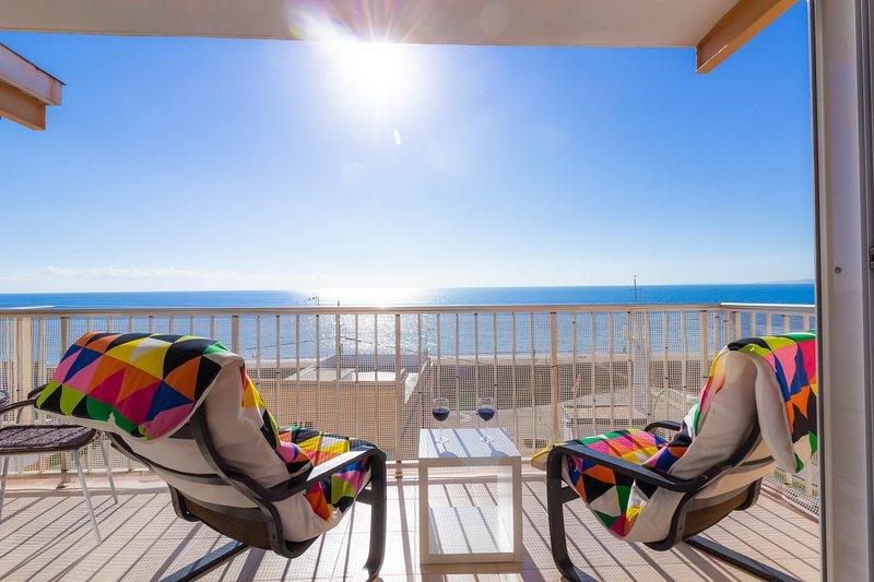 MARINA: fantastic sea view terrace. WIFI, holiday rental in Santa Pola