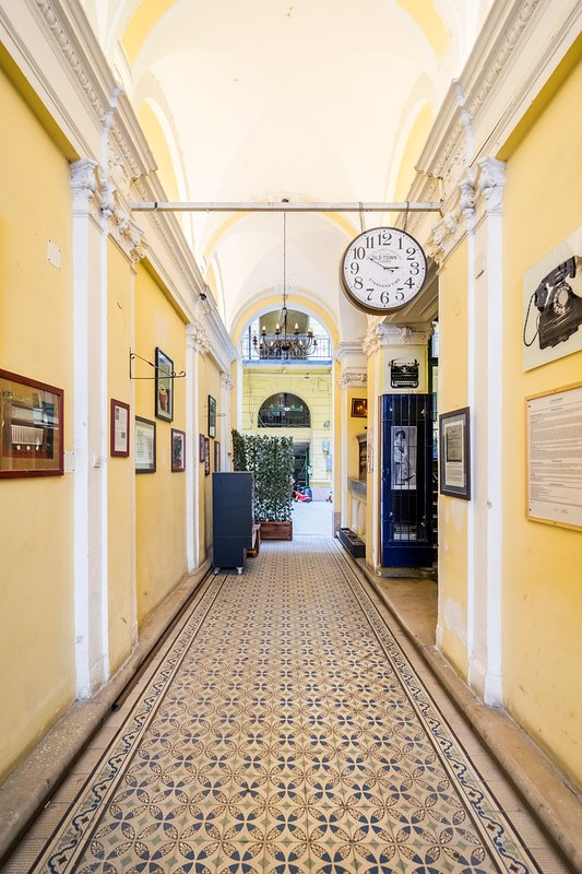 The fin de siecle lobby of the building
