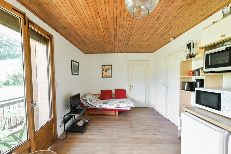 Nice apt with mountain view & Wifi, holiday rental in Montagny