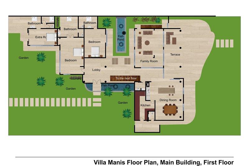 villa Manis Beachfront floor plan 2