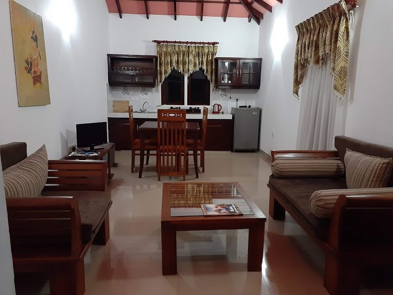 living room and pantry