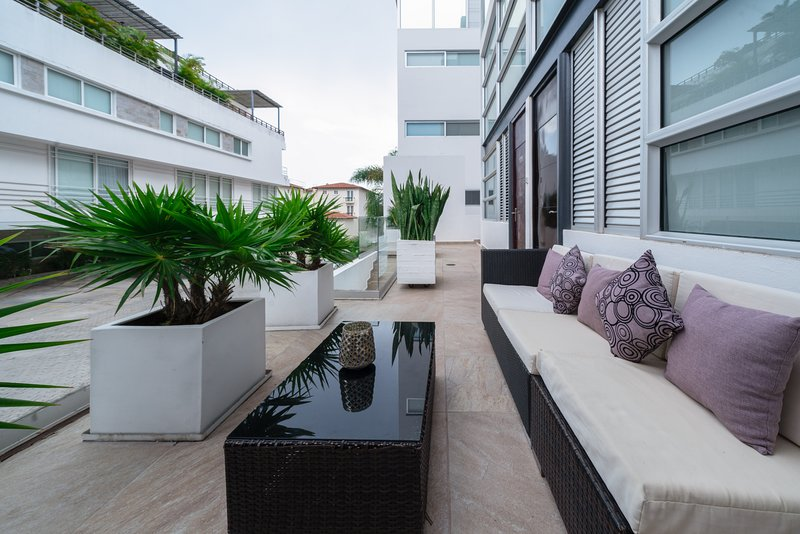 Your private terrace with nice ocean breezes