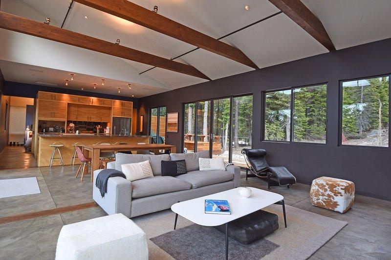 Muebles, mesa, sala, sala de estar, interior