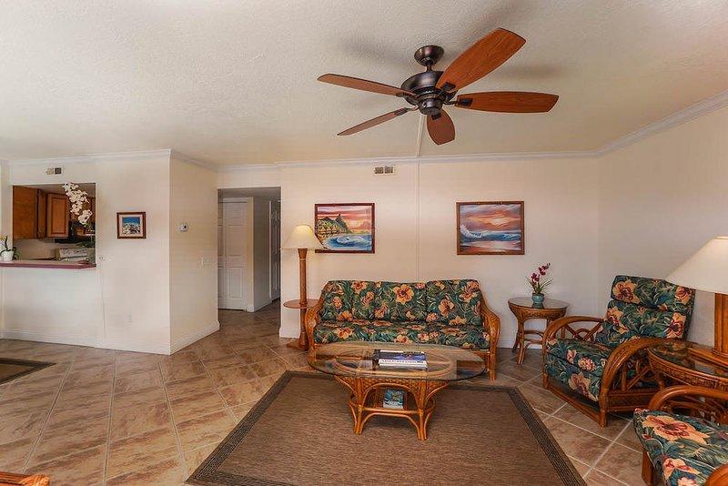 Pavimenti, ventilatore a soffitto, interni, camera, soggiorno