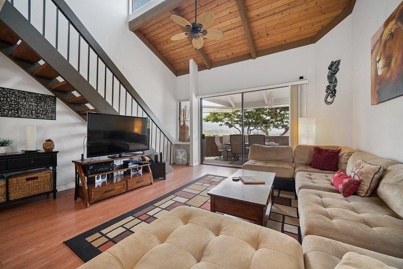 Bâtiment, meubles, canapé, intérieur, ventilateur de plafond
