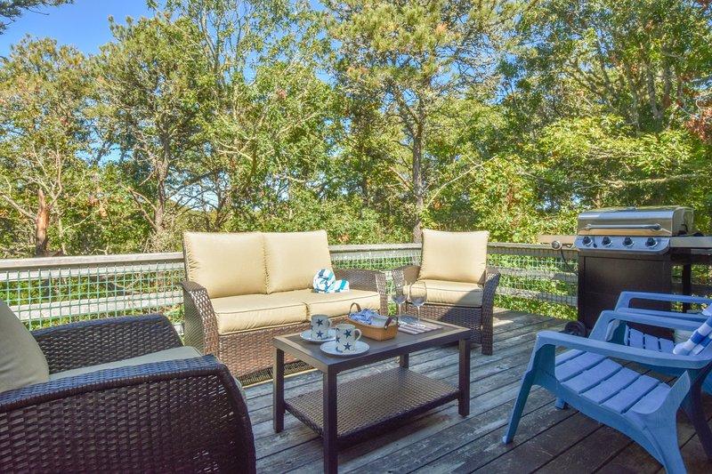 #630: Clean, Deck w/ Nice Furniture, Private Yard, Foosball, Central A/C - Walk, casa vacanza a West Chatham