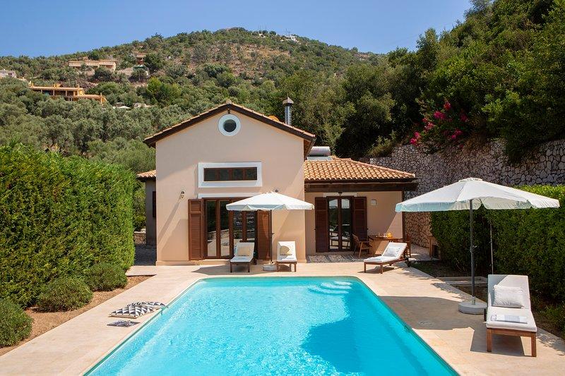Luxury stunning Villa Penelope Sivota Lefkada, holiday rental in Evgiros