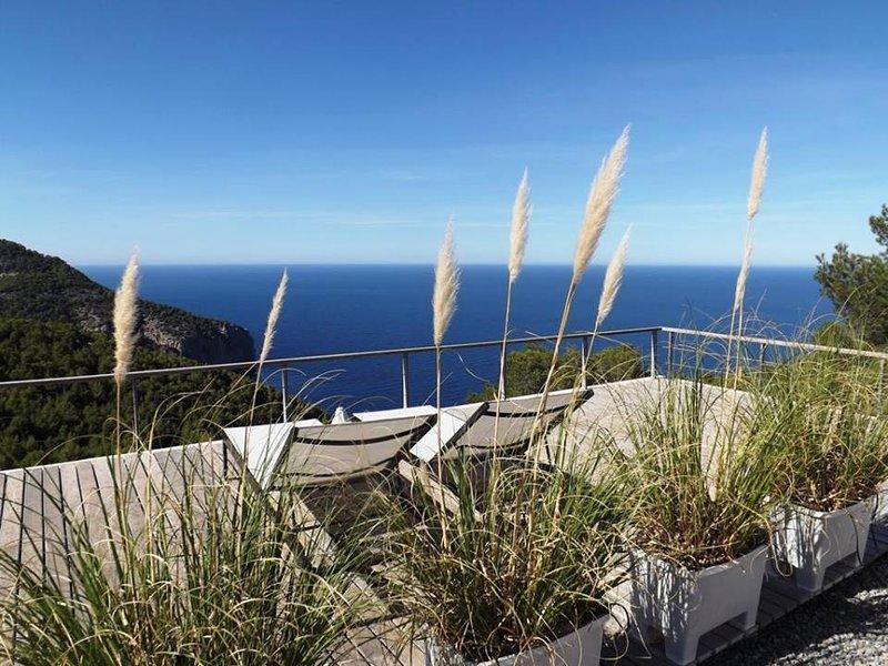 Design Studio at luxury Design Villa Cap Rubio Ibiza - a rare OCEANFRONT place, holiday rental in San Lorenzo