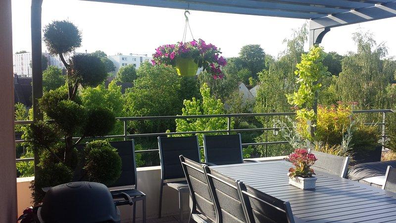 Agréable 3 pièces avec grande terrasse proche Roissy aéroport, Disney, Paris, vacation rental in Mauregard