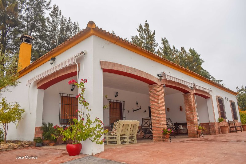 Vila Concha, casa de campo con piscina y chimenea para 8 personas, holiday rental in Arahal